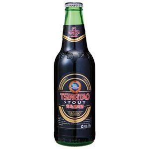 青島スタウト 瓶 (輸入ビール) 355ml×24本入り - 拡大画像