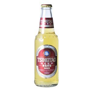 青島プレミアム 瓶 (輸入ビール) 296ml×24本入り【3セット 計72本】 - 拡大画像