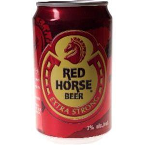 フィリピン産ビール レッド ホース 缶 330ml×24本 - 拡大画像