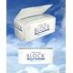 3層サージカルマスク「BLOCK」50枚入り レギュラーサイズ カラー:ホワイト(三層不織布) - 縮小画像1