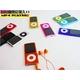 【電丸】2.2インチ薄型充電式 MP3/MP4/WMVプレーヤー 4GB typeD レッド (第5世代カメラ付) - 縮小画像2