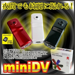 【電丸】【クリップ付き小型カメラ】 動体検知機能付HD画質 1200万画素DVカメラボイスレコーダー 008C2(ブラック) - 拡大画像