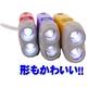 すぐに使える手動発電機能!おしゃれな防災LEDフラッシュライト 明るい2灯ライト (レッド) 写真5