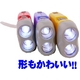 すぐに使える手動発電機能!おしゃれな防災LEDフラッシュライト 明るい2灯ライト (オレンジ) 写真5