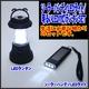 【電丸】おしゃれな防災LEDランタン 明るい11灯ライト乾電池式 & ソーラー LED3灯フラッシュライト セット - 縮小画像1