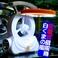 【電丸】充電式扇風機白くまの風 LEDライト付 【ブルー】(乾電池不要)