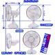 【電丸】乾電池&USB 2WAY電源の扇風機 白くまの風スイング - 縮小画像4