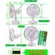 【電丸】乾電池&USB&ソーラー充電 3WAY電源の扇風機 白くまの風スイングプラスV3太陽光を使ってソーラー充電式扇風機 - 縮小画像4