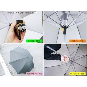 【電丸】UVカット扇風機付き日傘 クーリングアンブレラ 涼しい風 (日傘/雨傘兼用) ★TVで紹介