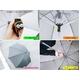 【電丸】UVカット扇風機傘クーリングアンブレラ涼しい風(日傘/雨傘兼用)★TVで紹介 - 縮小画像3