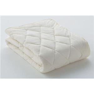 フランスベッド ベッドパッド クランフォレスト羊毛ベッドパッド ダブルサイズ 35838360 - 拡大画像