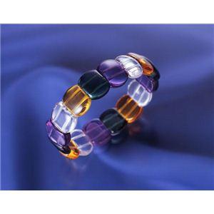 BL-373 カラフル水晶おしゃれブレス - 拡大画像