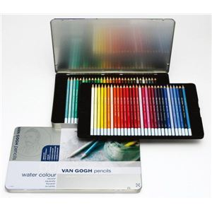 サクラクレパス T9774-0065 ゴッホ水彩色鉛筆60M - 拡大画像