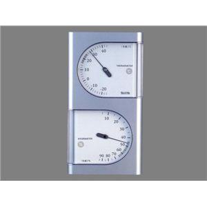 タニタ温湿度計 TT518 シルバー - 拡大画像