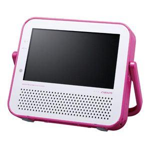 ツインバード VD-J719 ポータブル防水DVDプレーヤー DVD ZABADY P(ピンク) - 拡大画像