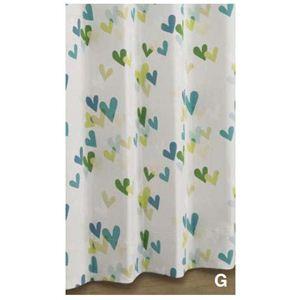 川島織物セルコンカーテン フライングハート 1.5倍形態安定プリーツ 100×135 グリーン DE1195