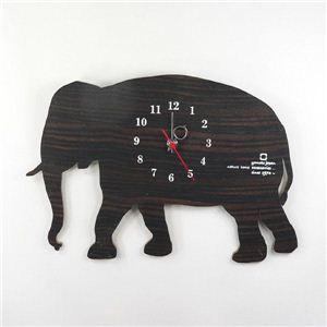 SHADOW W(掛け時計) YK10-104 ゾウ  - 拡大画像