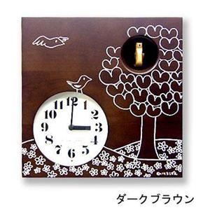 カッコー時計 いとうこずえデザイン IK656BRダークブラウン  - 拡大画像