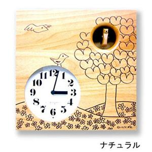 カッコー時計 いとうこずえデザイン IK656NAナチュラル  - 拡大画像
