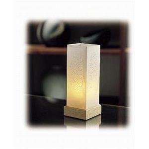 ミニスタンド キャンドル風LEDランプ S-412(白)  - 拡大画像