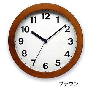 シンプル木枠 カラー掛け時計 QL501-BRブラウン  - 拡大画像