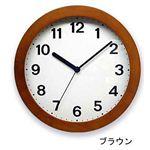 シンプル木枠 カラー掛け時計 QL501-BRブラウン