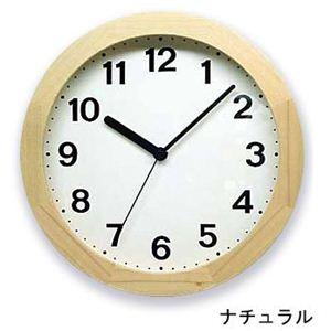 シンプル木枠 カラー掛け時計 QL501-NAナチュラル  - 拡大画像