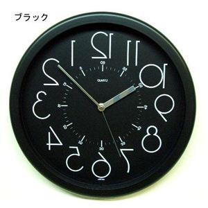 逆転時計 QL886BKブラック  - 拡大画像