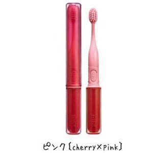 携帯音波振動歯ブラシ(コンパクト電動歯ブラシ) MIXミックス ピンク(cherry×pink)  - 拡大画像
