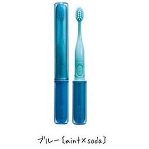 携帯音波振動歯ブラシ(コンパクト電動歯ブラシ) MIXミックス ブルー(mint×soda)  - 拡大画像