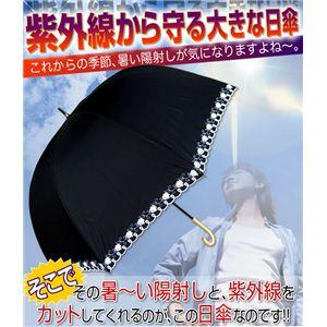 紫外線から守る大きな日傘