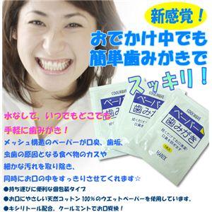 ペーパー歯みがき 30包 【防災グッズ/防災用品/断水】 - 拡大画像
