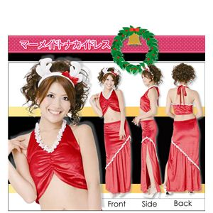 【クリスマスコスプレ】ハッピークリスマスコスチューム セクシードレス マーメイドトナカイドレス - 拡大画像