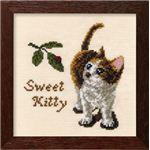 【刺繍(ししゅう)キット】【手芸】 7275(ベージュ) ドッグス・キャッツ かわいい子猫