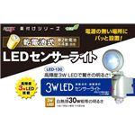 ムサシ LED-130 乾電池式 3W LEDセンサーライト