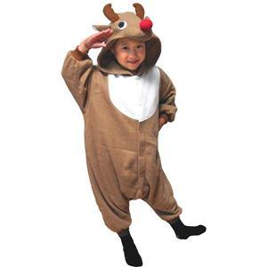 【クリスマスコスプレ】サザック フリーストナカイ着ぐるみ 子供用 BE・95cm 2758E - 拡大画像