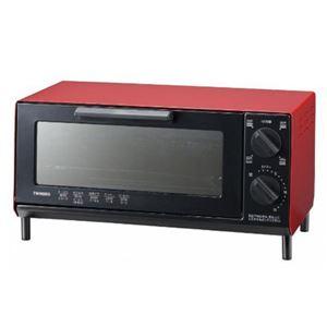 ツインバード オーブントースター TS-4035 レッド・TS-4035R