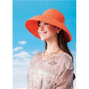 岡田美里プロデュース mili millie 日傘みたいな帽子 オレンジ