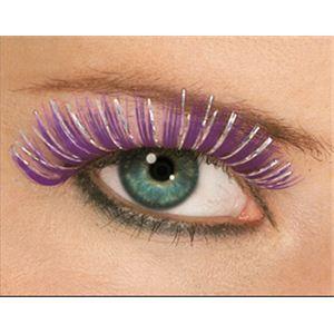 MAKEUP(メイクアップ) コスプレ用メイク用品 Hologram Eyelashes - Purple(ホログラム アイラッシュ パープル)