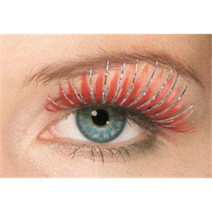 MAKEUP(メイクアップ) コスプレ用メイク用品 Hologram Eyelashes - Red(ホログラム アイラッシュ レッド)
