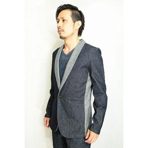 VADEL shawl solid jacket INDIGO サイズ44