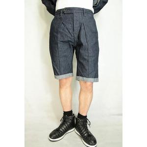 VADEL  intuck trousers shorts INDIGO COMB サイズ44