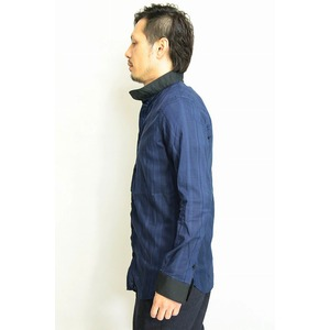 VADEL collar separated shirts NAVY サイズ44