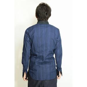 VADEL collar separated shirts NAVY サイズ46