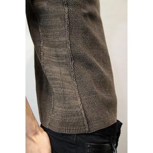 VADEL crazy pattern S/S knit FADE BLACK サイズ44