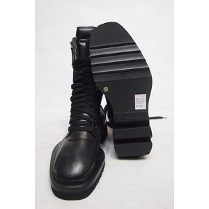 CINZIA ARAIA スパイラルジップレースアップブーツ BLACK サイズ42