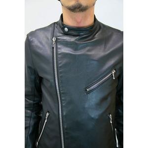 SHELLAC ダブルライダースジャケット BLACK サイズ44