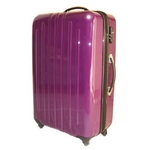 TSAロック搭載 + ONE二重ロック可能 スーツケース LG2017 軽量大型光沢仕上げ Lサイズ 紫 (7〜14泊)