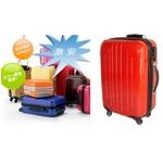 TSAロック搭載 + ONE二重ロック可能 スーツケース LG2017 超軽量小型光沢仕上げ Sサイズ 赤 (1〜3泊 機内持ち込み可)
