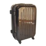 TSAロック搭載 + ONE二重ロック可能 スーツケース LG2017 超軽量小型光沢仕上げ Sサイズ 黒 (1〜3泊 機内持ち込み可)